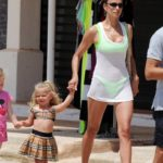 Irina Shayk in a Neon Green Bikini on Holiday in Ibiza