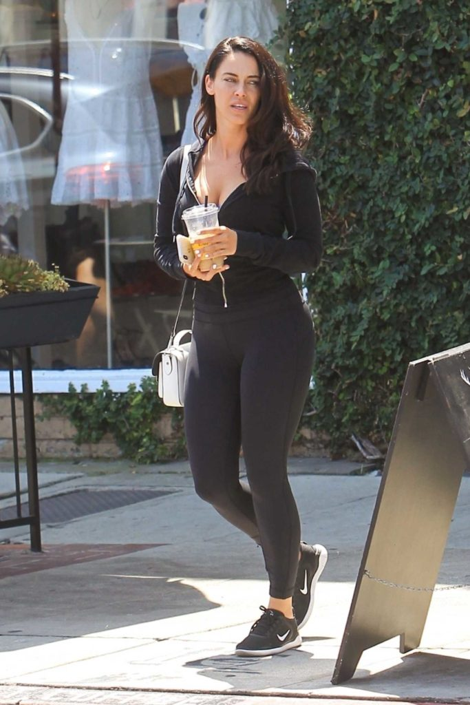 Jessica Lowndes in a Black Leggings