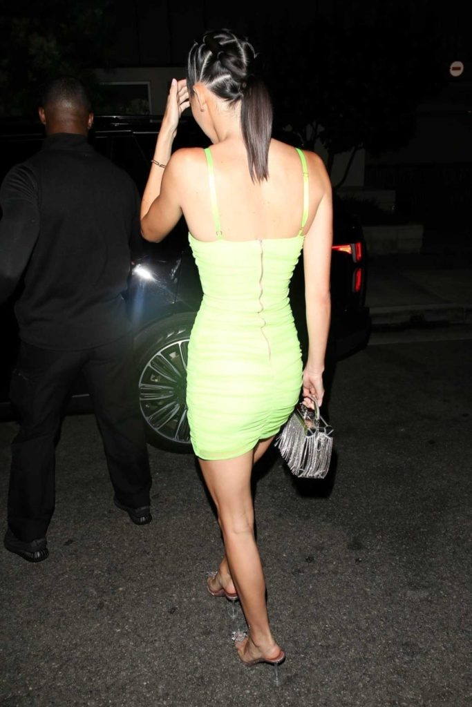 Kendall Jenner in a Neon Green Dress