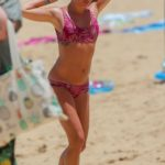 Lea Michele in a Pink Bikini on the Beach in Hawaii