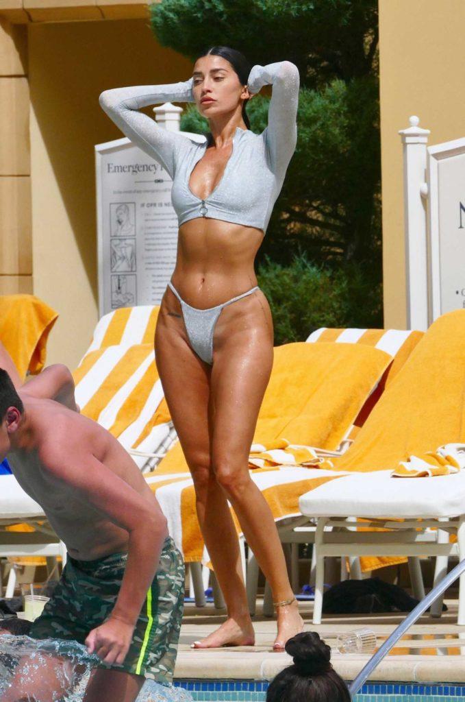 Nicole Williams in a Silver Bikini