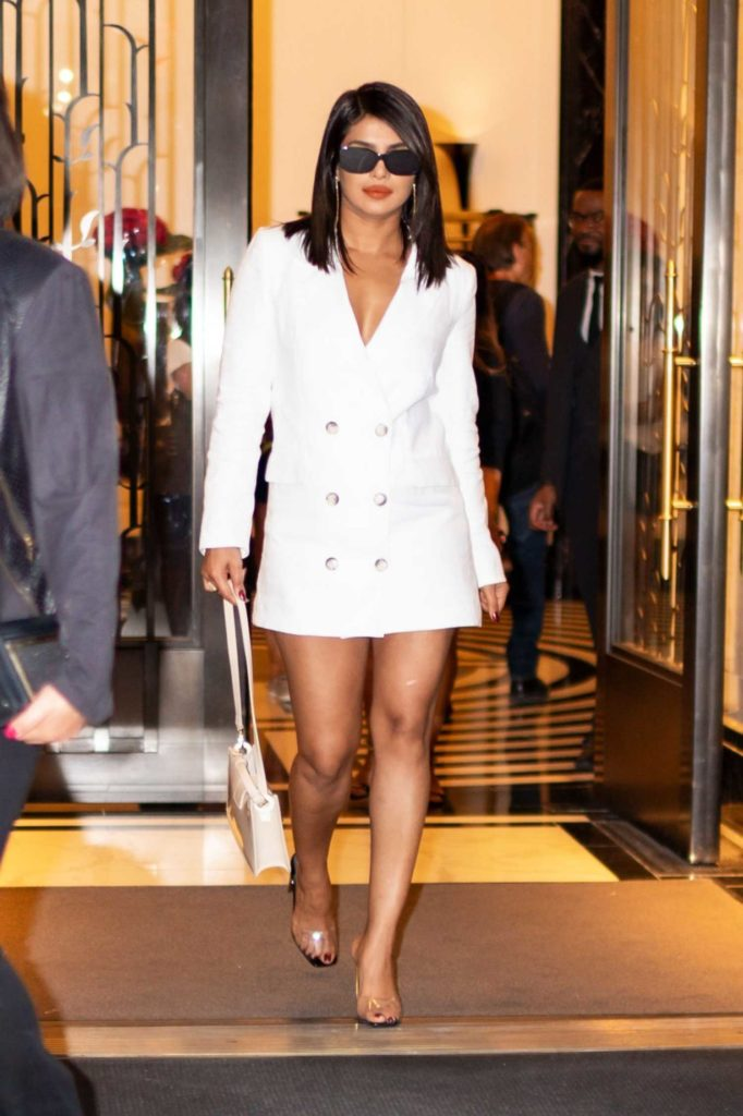 Priyanka Chopra in a White Blazer