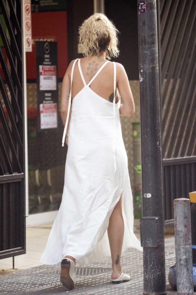 Rita Ora in a White Dress