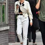 Romee Strijd in a White Jeans Was Spotted Out with Laurens van Leeuwen in NYC