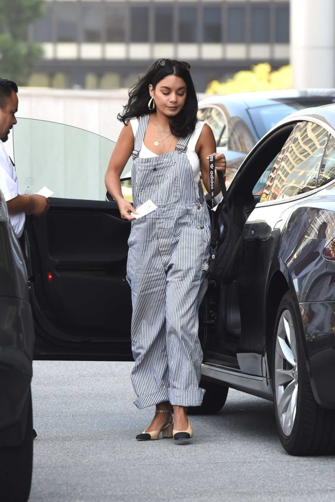 Vanessa Hudgens in a Striped Jumpsuit