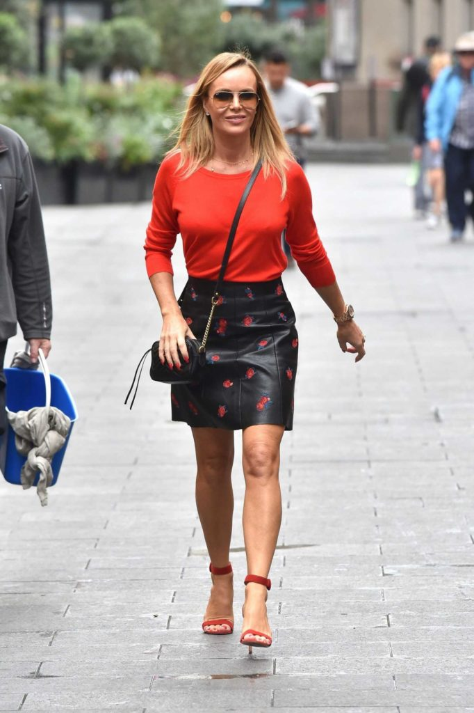 Amanda Holden in a Red Blouse
