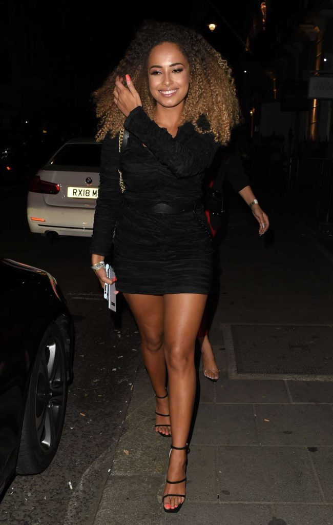 Amber Gill in a Black Dress
