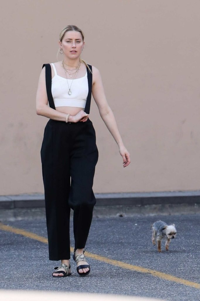 Amber Heard in a Black Pants