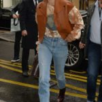 Gigi Hadid in a Blue Jeans Was Seen Out in Paris