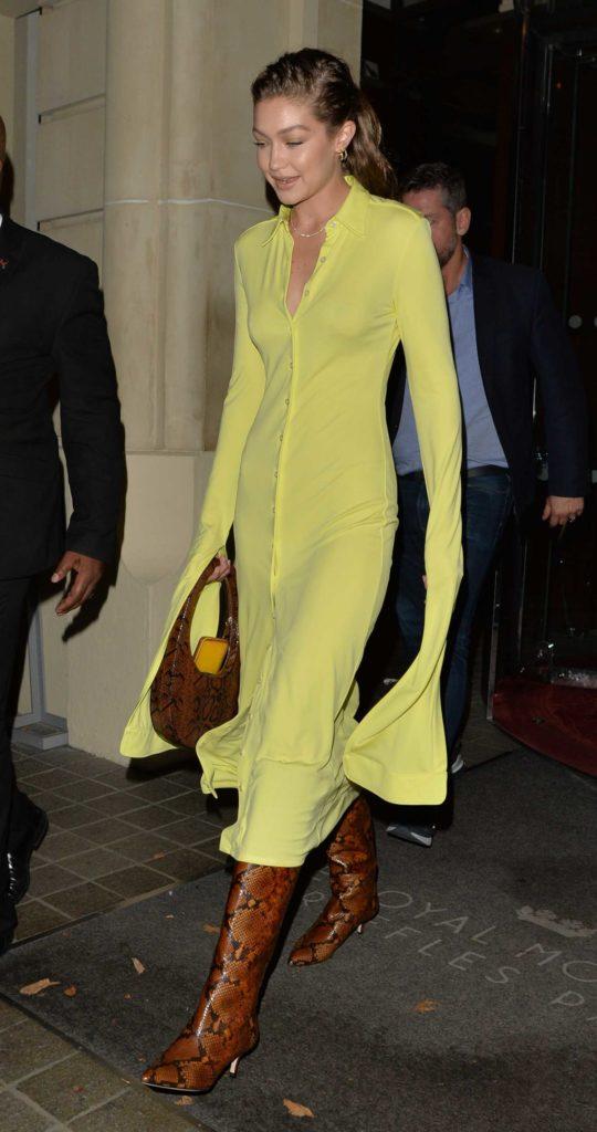 Gigi Hadid in a Yellow Dress