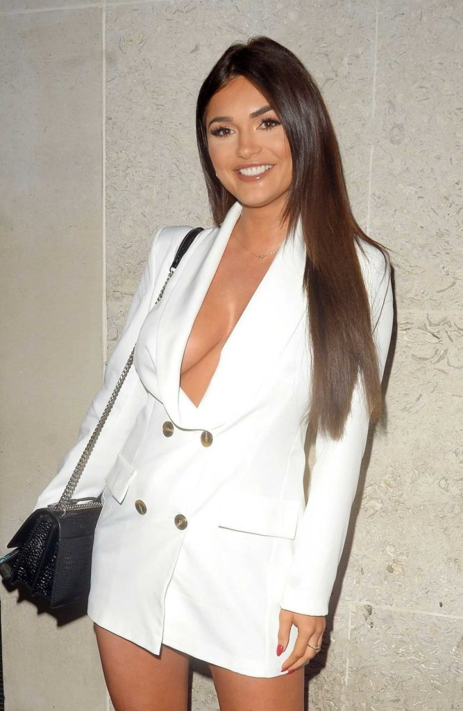 India Reynolds in a White Blazer