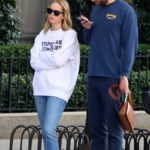 Jennifer Lawrence in a White Sweatshirt Was Seen Out with Cooke Maroney in NY