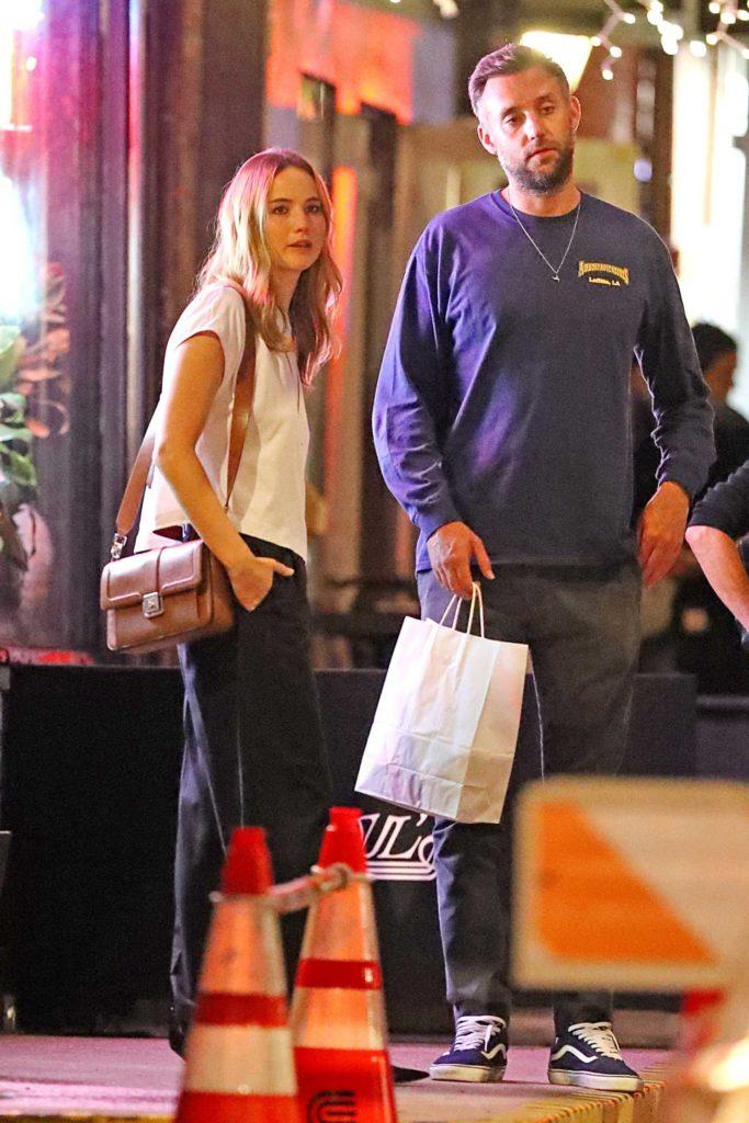 Jennifer Lawrence in a White Tee