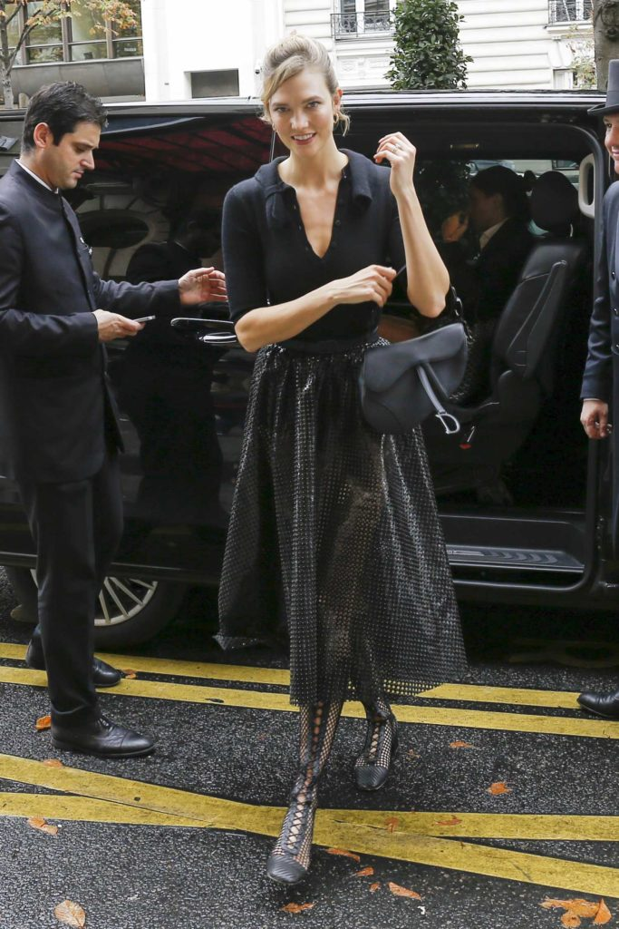 Karlie Kloss in a Black Blouse