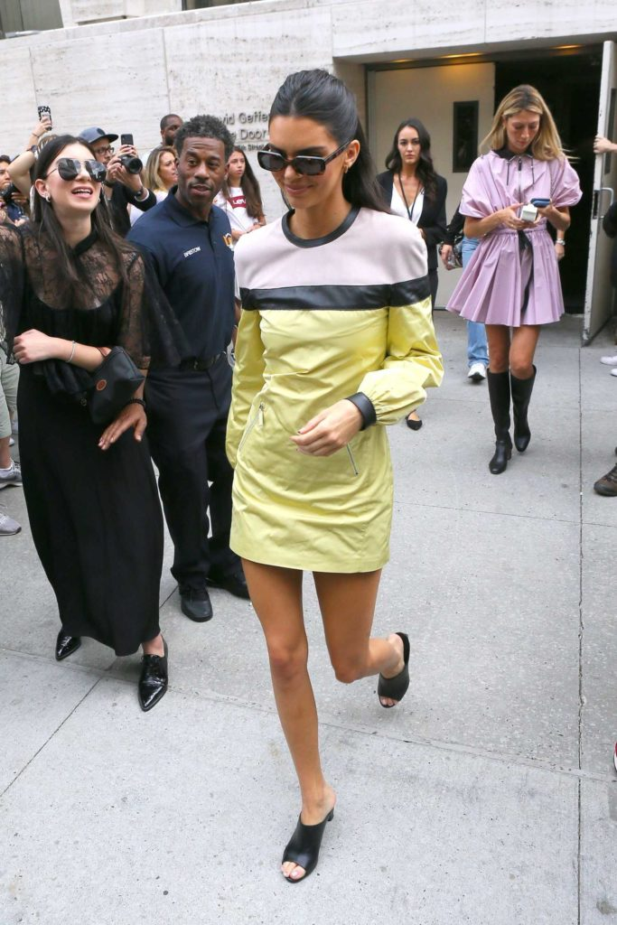 Kendall Jenner in a Yellow Dress