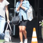 Lea Michele in a White Sneakers Was Seen Out in Bel-Air