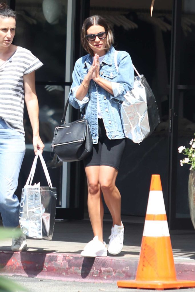 Lea Michele in a White Sneakers