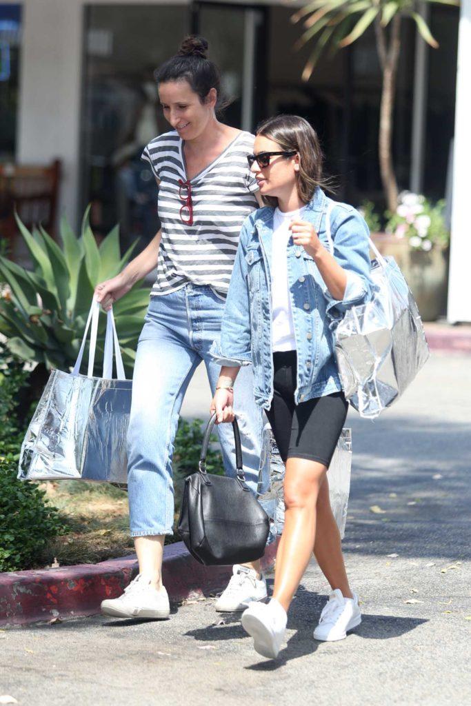 Lea Michele in a White Sneakers