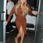 Mariah Carey in a Brown Dress Was Seen Out in Hollywood
