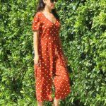 Mila Kunis in a Red Polka Dot Jumpsuit Was Seen Out in LA