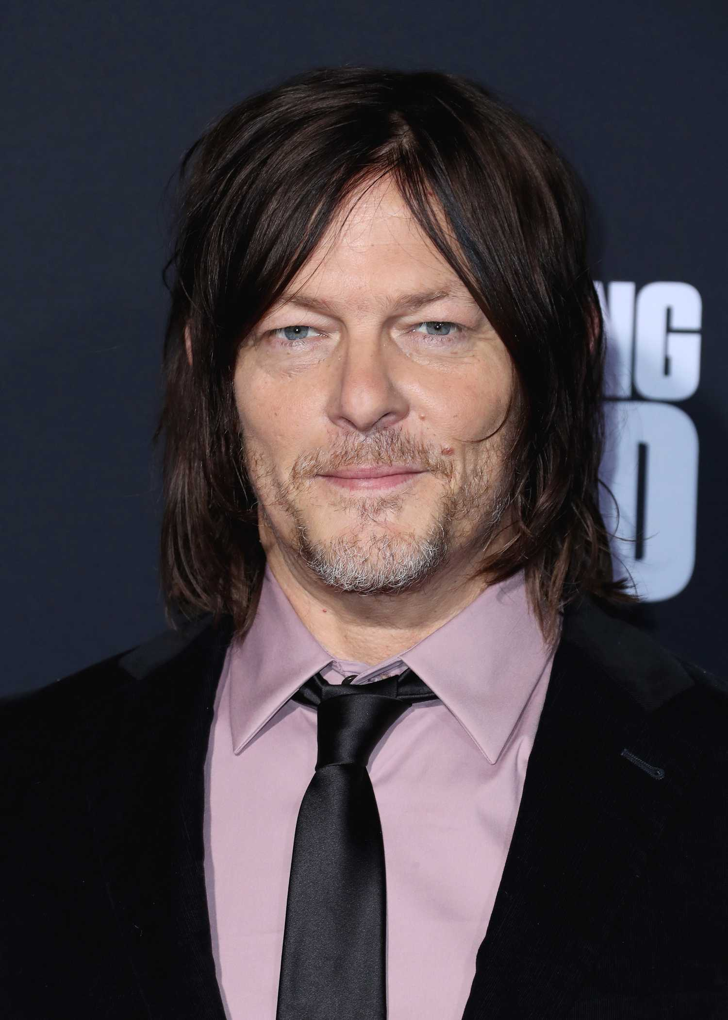 Norman Reedus Attends The Walking Dead Premiere and Party