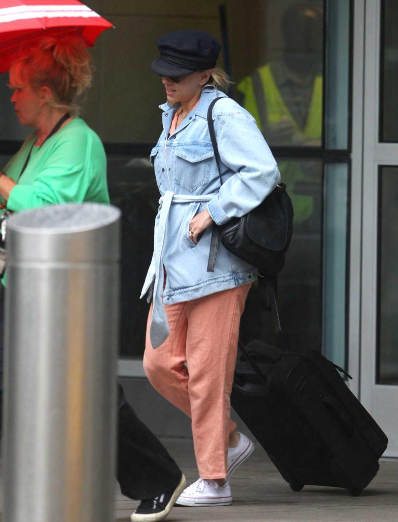 Scarlett Johansson in a Black Cap