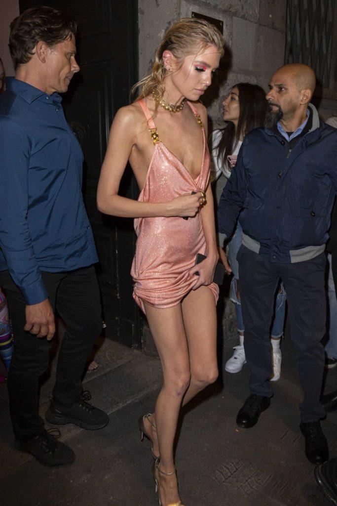 Stella Maxwell in a Pink Dress