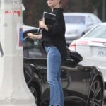 Amy Adams in a Black Polka Dot Blouse Was Seen Out in Los Angeles