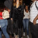 Bella Thorne in a Black Suit Arrives at the Orpheum Theatre in Los Angeles