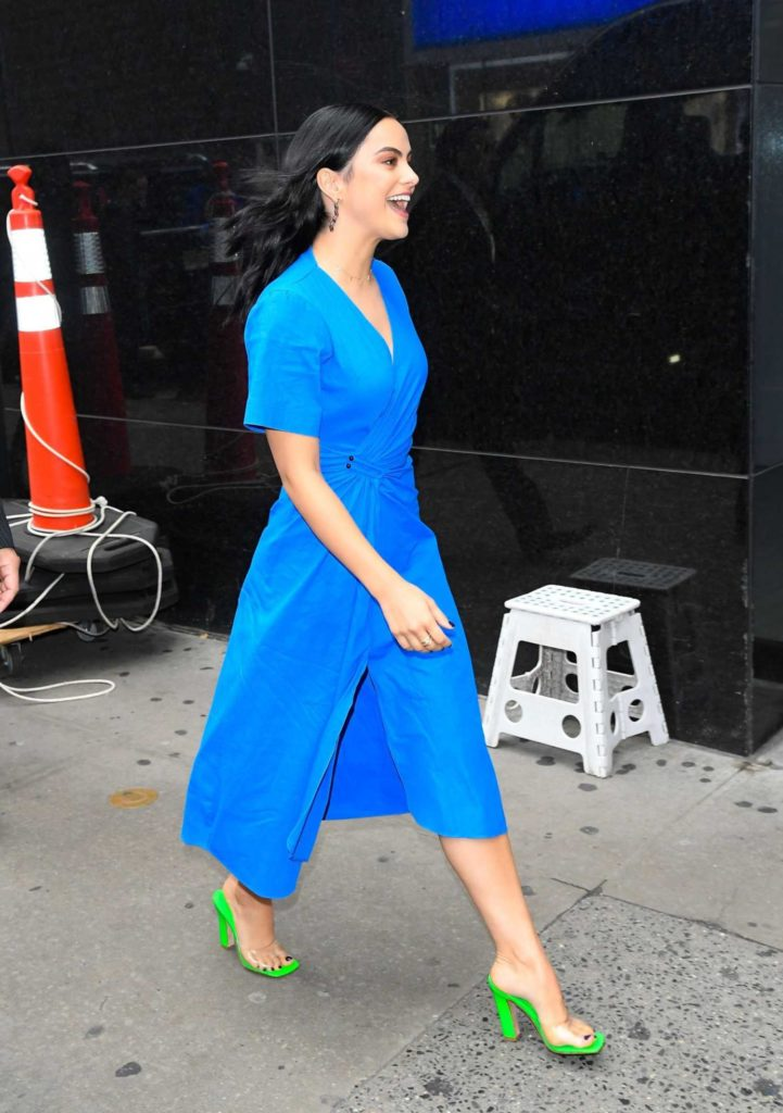 Camila Mendes in a Blue Dress