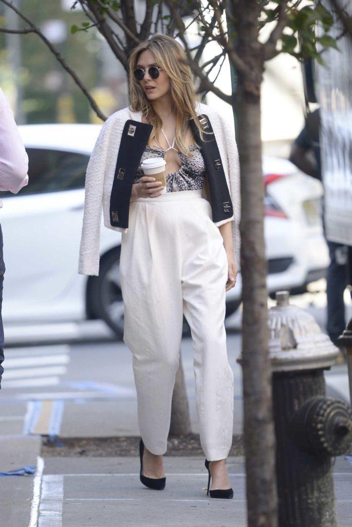 Elizabeth Olsen in a White Pants