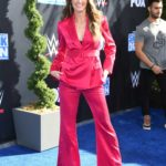 Erin Andrews Attends the WWE 20th Anniversary Celebration Marking Premiere of WWE Friday Night SmackDown in LA