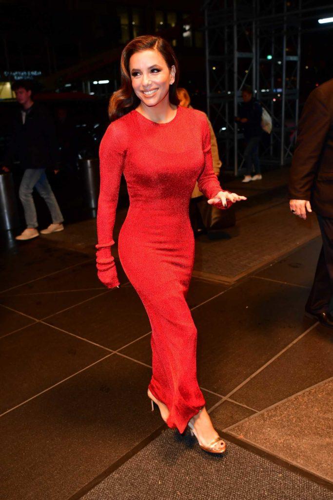 Eva Longoria in a Red Dress