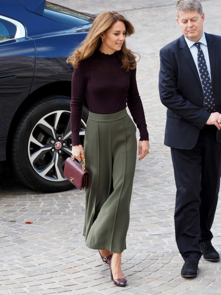 Kate Middleton in a Purple Blouse