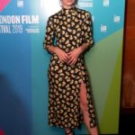 Lily James Attends the Rare Beasts Premiere During the 63rd BFI London Film Festival in London