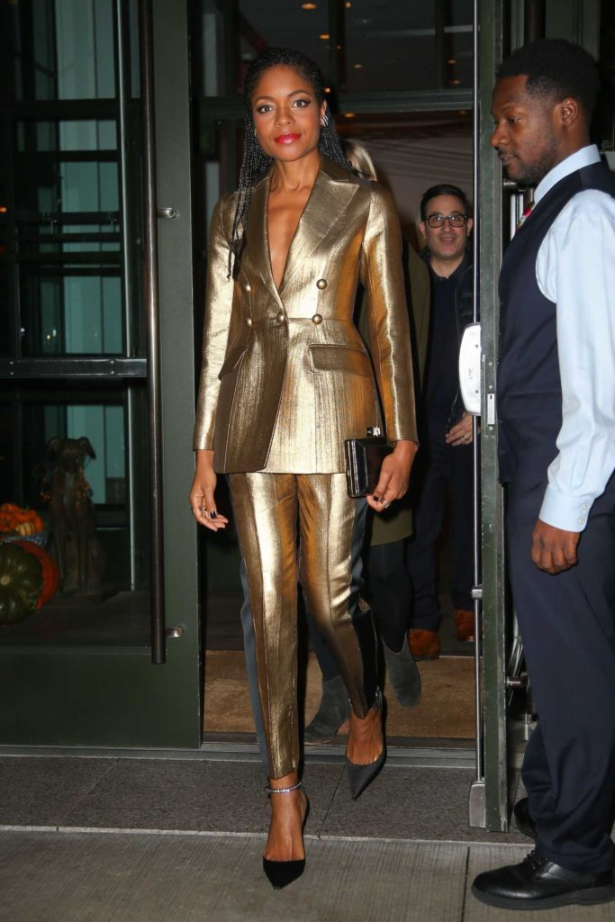 Naomie Harris in a Gold Suit