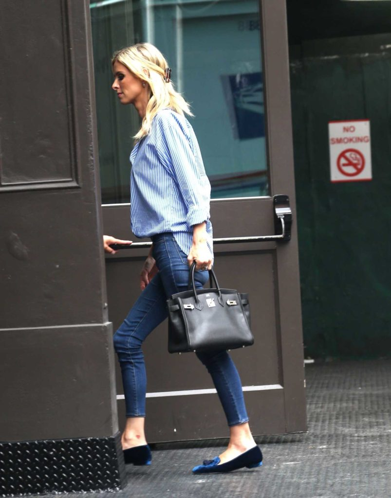 Nicky Hilton in a Striped Shirt