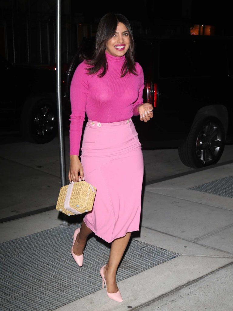 Priyanka Chopra in a Pink Skirt