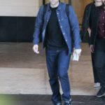 Robert Pattinson in a Blue Shirt Leaves the London Hotel in Beverly Hills