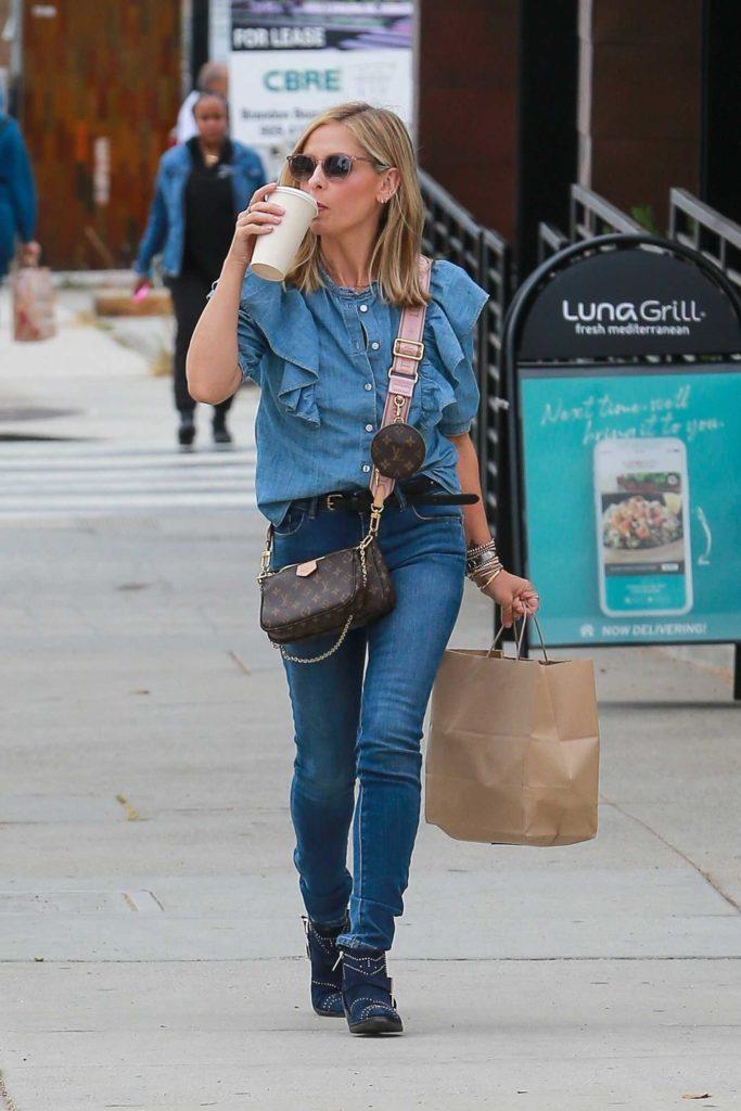 Sarah Michelle Gellar in a Blue Blouse