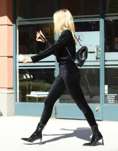 Sofia Richie in a Black Pants