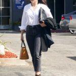 Sophia Bush in a White Shirt Leaves a Business Meeting in LA