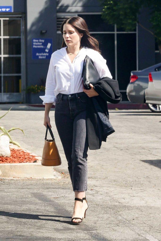 Sophia Bush in a White Shirt