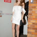 Anna Kendrick in a White Mini Dress Leaves The Daily Show with Trevor Noah in New York