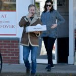 Anne Hathaway in a Gray Sweater Was Seen Out in Westport