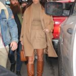 Camila Morrone in a Beige Coat Was Seen Out in NY