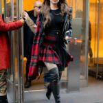 Hailee Steinfeld in a Plaid Skirt Leaves SiriusXM Studios in New York