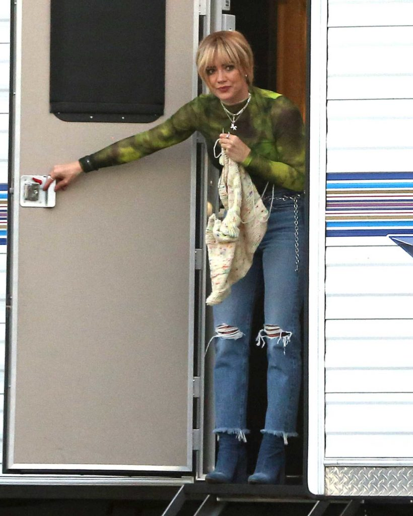 Hilary Duff in a Black Top