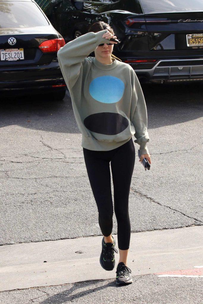 Kendall Jenner in a Black Leggings