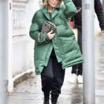 Kylie Minogue in a Green Puffer Coat Was Seen Out in London